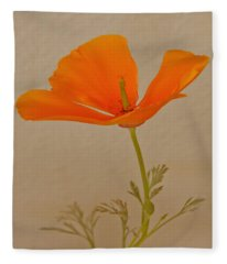 Wild California Poppy No 1 Fleece Blanket