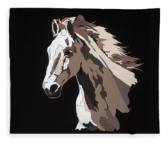 Wild Horse With Hidden Pictures Fleece Blanket