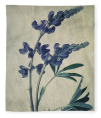 Wild Lupine Fleece Blanket