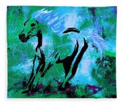 Wild Midnight Fleece Blanket