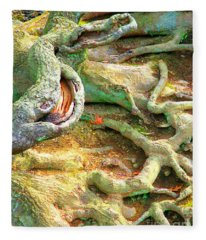 Wild Roots By Christopher Shellhammer Fleece Blanket