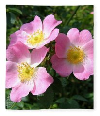 Wild Roses 1 Fleece Blanket