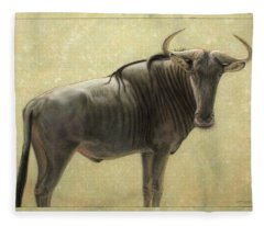 Wildebeest Fleece Blanket