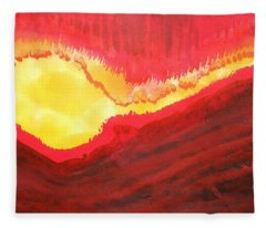 Wildfire Original Painting Fleece Blanket
