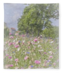 Wildflower Impressionism Fleece Blanket