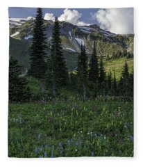 Wildflowers At Rainier Fleece Blanket