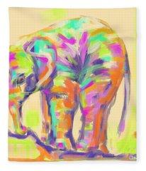 Wildlife Baby Elephant Fleece Blanket