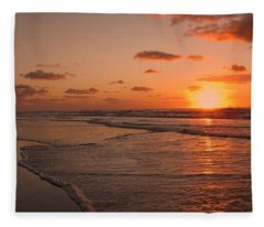 Wildwood Beach Sunrise II Fleece Blanket