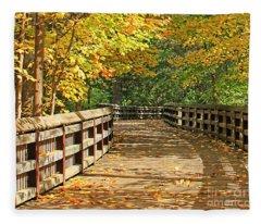 Wildwood Boardwalk Corrected Fleece Blanket