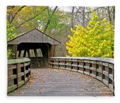 Wildwood Covered Bridge 5666 Fleece Blanket
