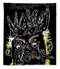 William Shakespeare's King Lear Poster Fleece Blanket