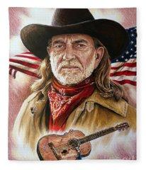 Willie Nelson American Legend Fleece Blanket