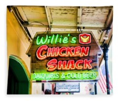 Willie's Chicken Shack Fleece Blanket