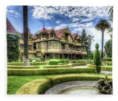 Winchester Mystery House Fleece Blanket