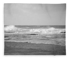 Wind Blown Waves Tofino Fleece Blanket