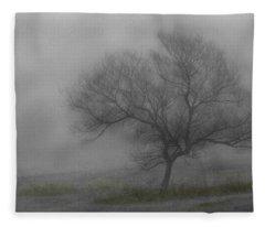 Wind Swept Tree Fleece Blanket
