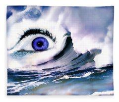 Window Of Your Soul Fleece Blanket