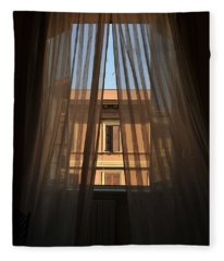 Window On Rome Fleece Blanket