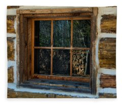 Window Reflection Fleece Blanket