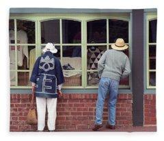 Window Shoppers Fleece Blanket