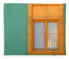 Windows Of The World - Santiago Chile Fleece Blanket