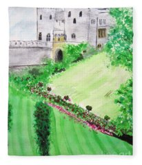 Windsor Castle Fleece Blanket