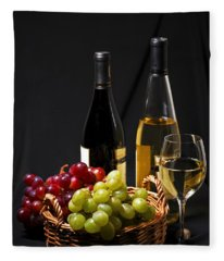Wine And Grapes Fleece Blanket