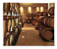 Wine Barrels Fleece Blanket