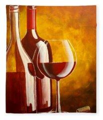 Wine Not Fleece Blanket