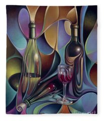 Wine Spirits Fleece Blanket