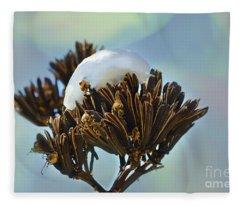 Winter Agave Bloom Fleece Blanket