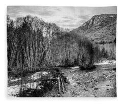 Winter Backroads Englishman River Fleece Blanket