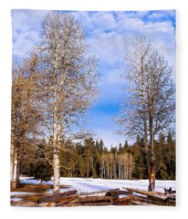 Winter Birch Fleece Blanket