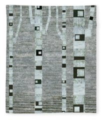 Winter Birches Fleece Blanket