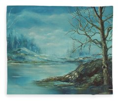 Winter Blue Fleece Blanket