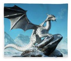 Winter Dragon Fleece Blanket