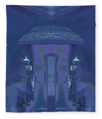 Winter Dusk Homecoming Fleece Blanket
