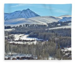 Winter Evening Aspen Fleece Blanket