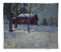 Winter House Fleece Blanket