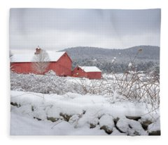 Winter In Connecticut Fleece Blanket