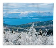 Winter In Nh Fleece Blanket