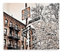 Winter In The Bronx Fleece Blanket