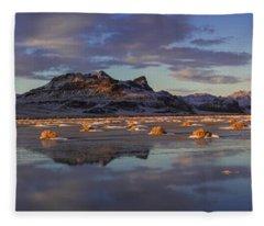 Winter In The Salt Flats Fleece Blanket