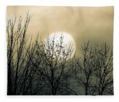 Winter Into Spring Fleece Blanket