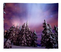 Winter Nights Fleece Blanket
