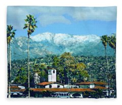 Winter Paradise Santa Barbara Fleece Blanket
