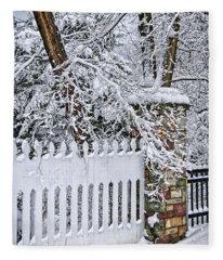 Winter Park Fence Fleece Blanket