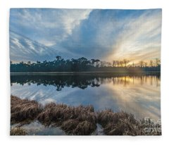 Winter Reflection-1 Fleece Blanket