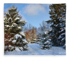 Winter Scenery Fleece Blanket