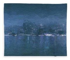 Winter Skyline Fleece Blanket